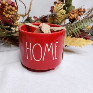 Rae Dunn Home Footed Planter Red New